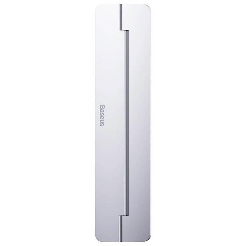 Baseus Papery Self-Adhesive Aluminum Laptop Stand - сгъавема, залепяща се към вашия компютър поставка за MacBook и лаптопи (сребрист)
