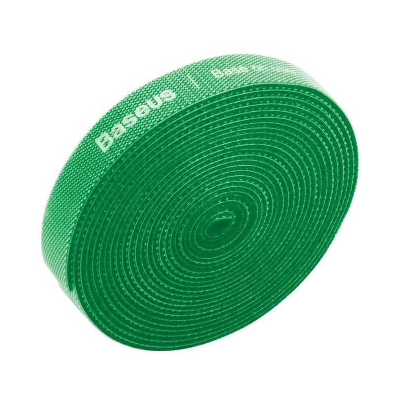 Baseus Rainbow Circle Velcro Strap - велкро лента за организиране на кабели (300 см) (зелен)