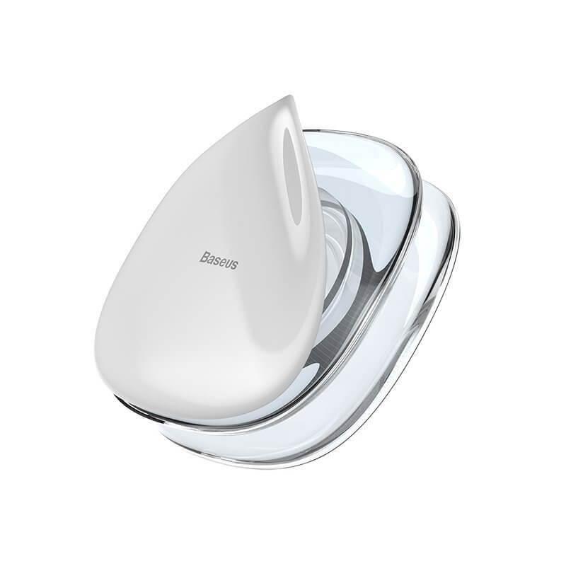 Baseus Universal Gel Pad Smartphone Mount Holder & Cable Organiser - лепяща се силиконова поставка за гладки повърхности за мобилни телефони (прозрачен)