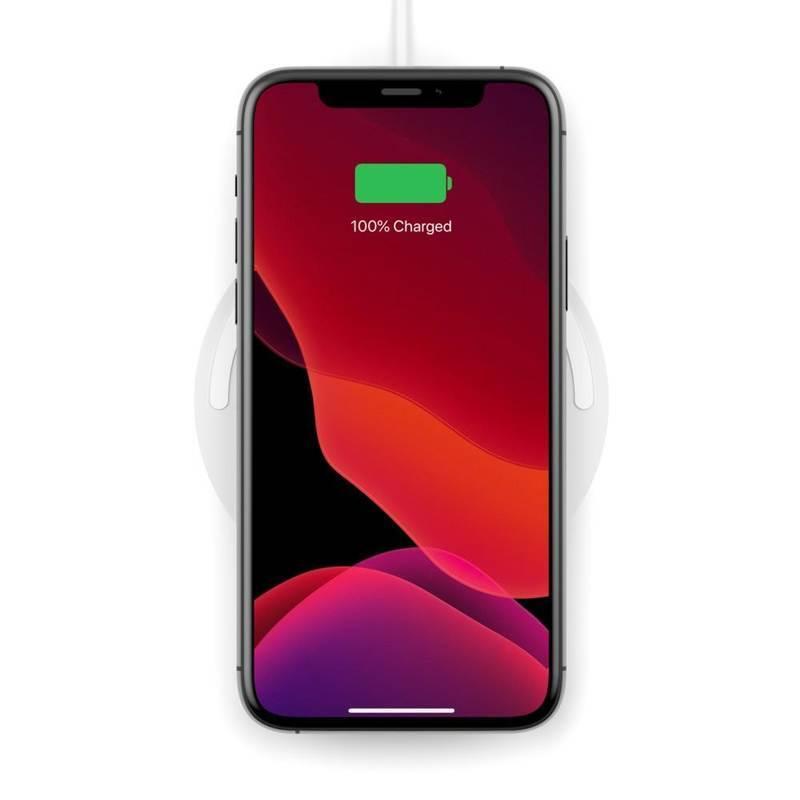Belkin Boost Charge Wireless Charging Pad 10W - поставка (пад) за безжично зареждане за Apple, Samsung, LG, Sony и други QI съвместими устройства (бял)