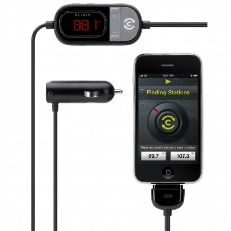 Belkin TuneCast® Auto Live трансмитер с GPS-Assisted Station Locator за iPhone