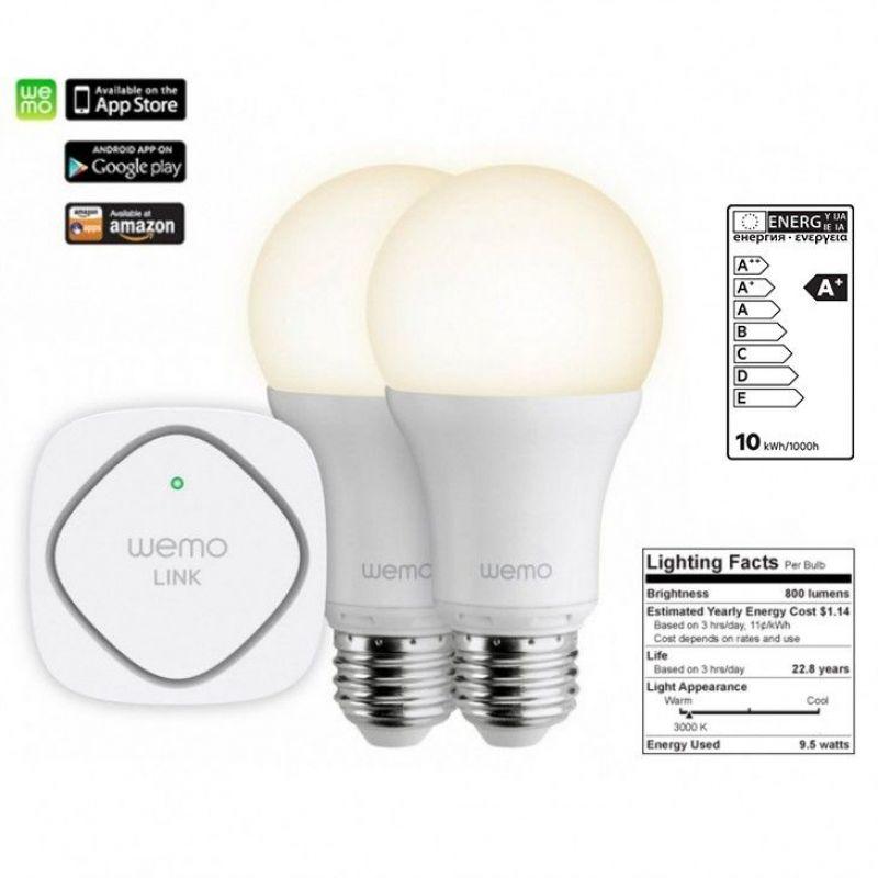 Belkin WeMo Lighting LED Starter-Set Wemo LINK + 2 LED Bulbs
