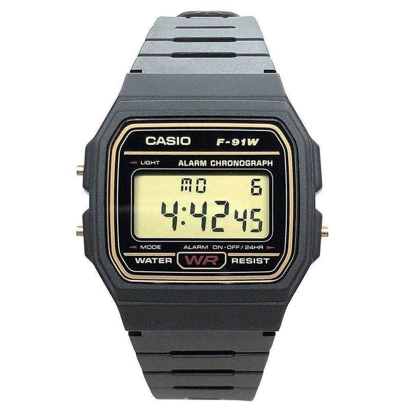 Casio F-91WG-9QEF Digital Watch - класически водоустойчив дигитален мъжки часовник (черен)