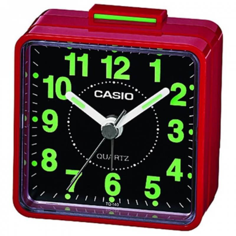 Casio TQ-140-4EF Beep Alarm Clock - часовник с будилник (червен)