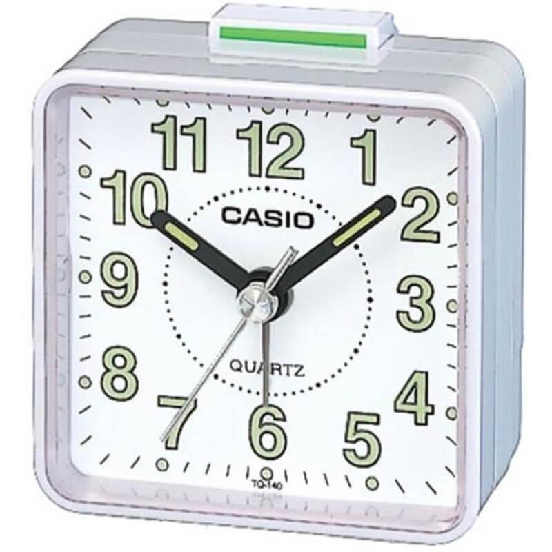 Casio TQ-140-7EF Beep Alarm Clock - часовник с будилник (бял)