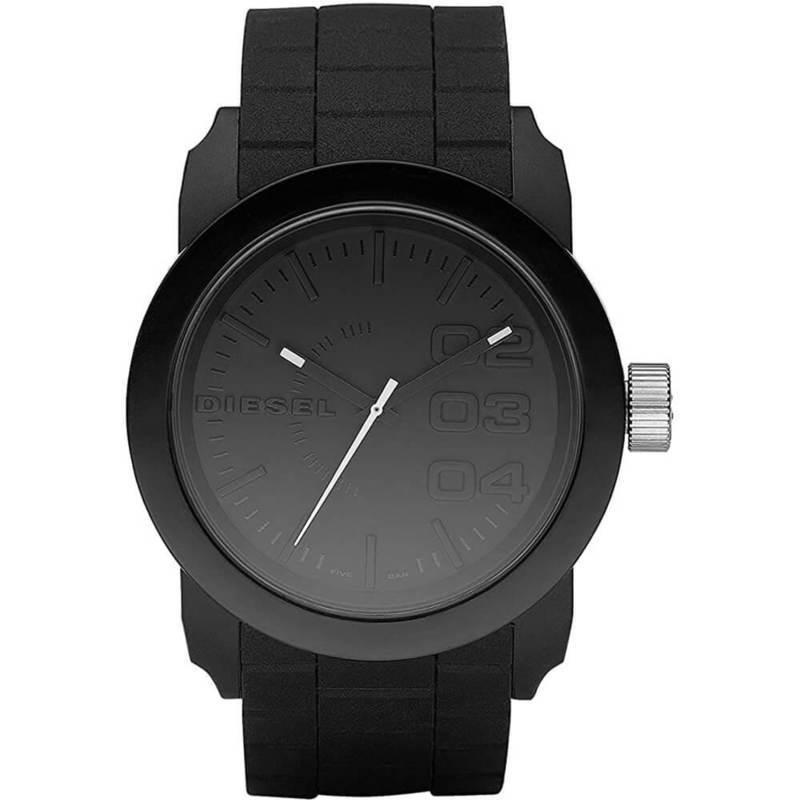 Diesel DZ1437 Watch - стилен аналогов часовник със силиконова каишка (черен)
