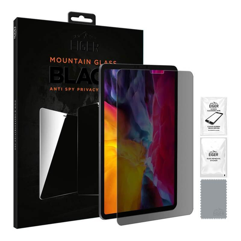 Eiger Mountain Glass Black Anti-Spy Privacy Filter Tempered Glass