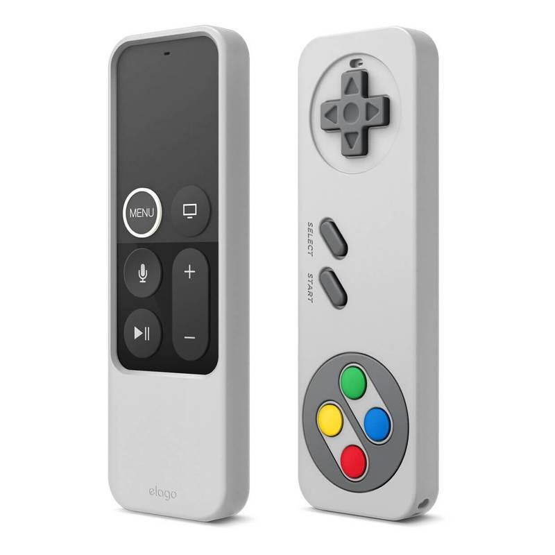 Elago R4 Retro Case - удароустойчив силиконов калъф за Apple TV Siri Remote (сив)