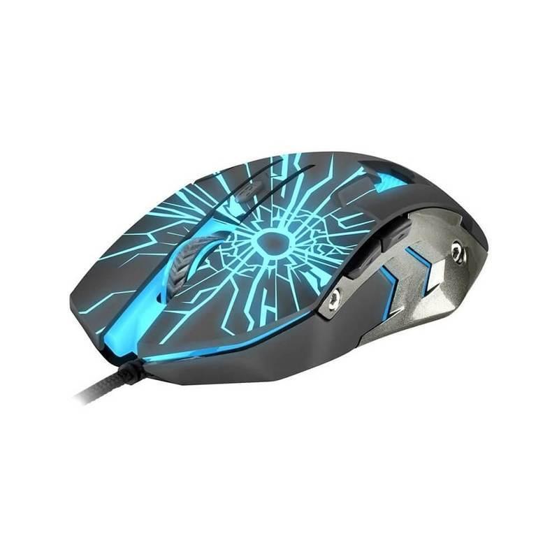 Fury Gladiator NFU-0870 - геймърска мишка с LED подсветка (черен)