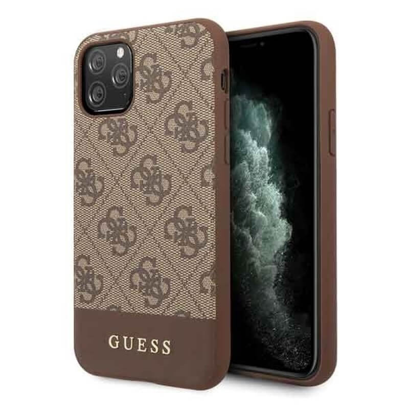 Guess 4G Stripe Leather Hard Case