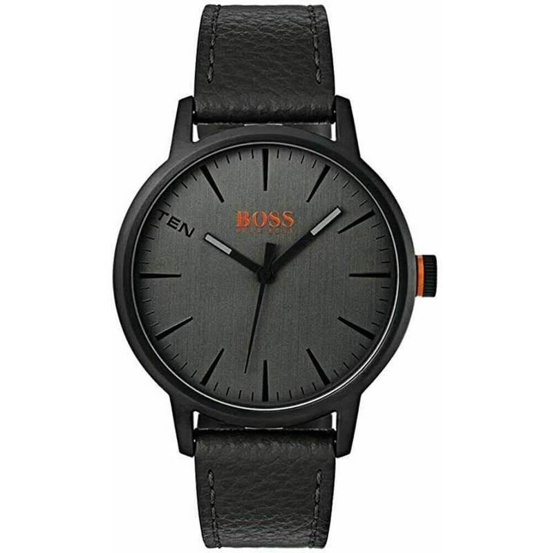 Hugo Boss Orange Copenhagen Watch 1550055 - луксозен аналогов часовник с кожена каишка (черен)