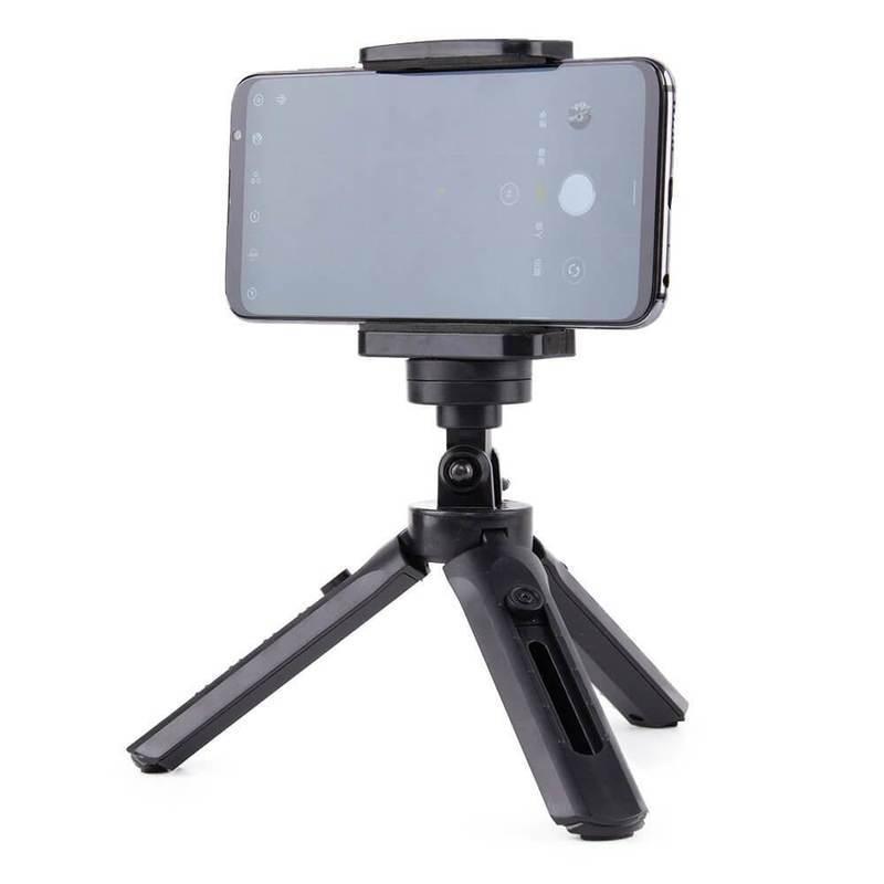 Hurtel 360 Degree Rotary Mini Tripod Stand - сгъваем трипод с резба за мобилни устройства, камери и стабилизатори