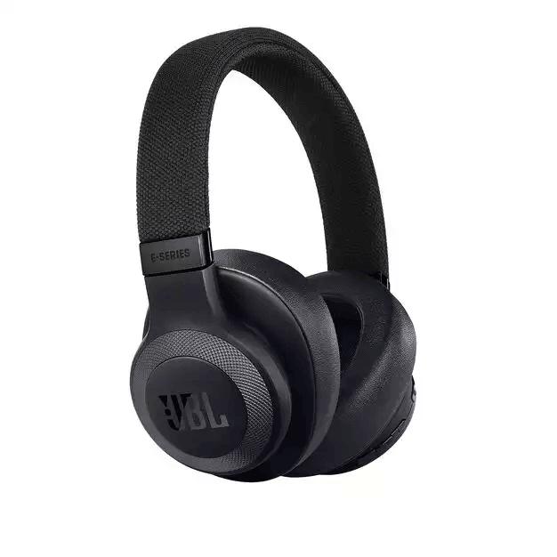 JBL E65BTNC Wireless Over-ear Noise-cancelling Headphones - безжични блутут слушалки с микрофон за мобилни устройства с Bluetooth (черен)