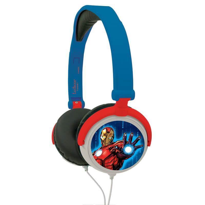 Lexibook Avengers Foldable Stereo Headphones - слушалки подходящи за деца (тъмносин-червен)