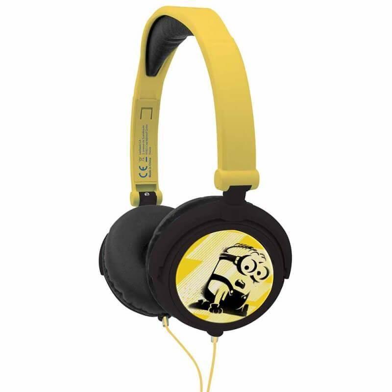 Lexibook Despicable Me Minions Foldable Stereo Headphones - слушалки подходящи за деца за мобилни устройства (жълт)