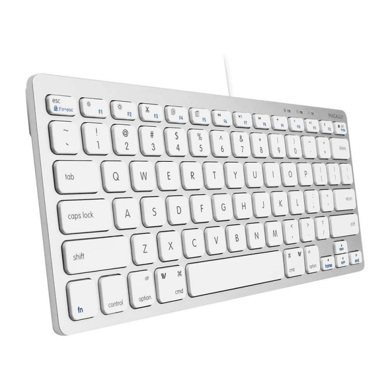 Macally Compact USB Wired Keyboard