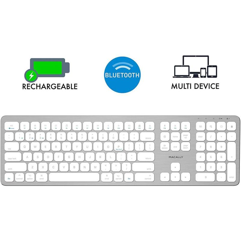Macally Slim Bluetooth Wireless Keyboard