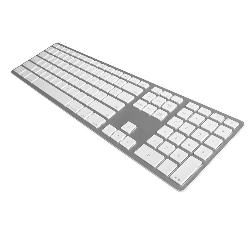 Matias Wireless Aluminum Keyboard with Numeric Keypad