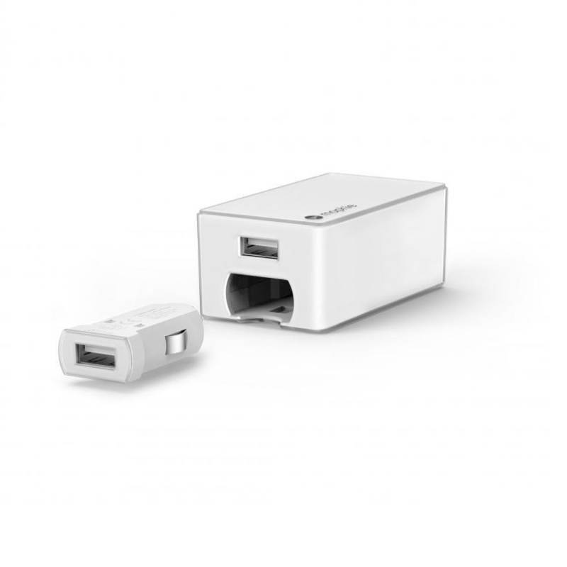 Mophie Dual Combo Wall-Car Charger 4.2A