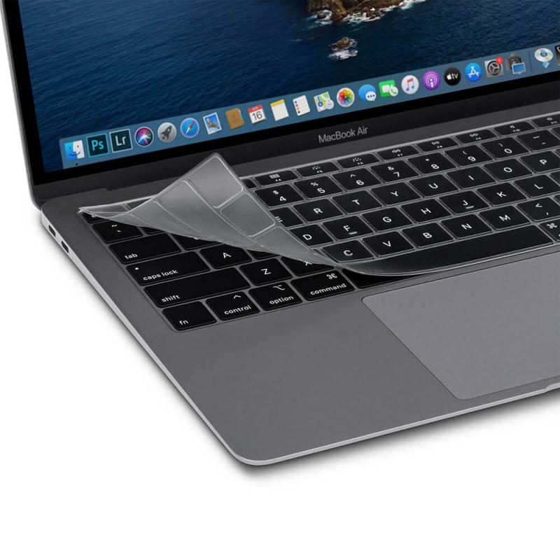 Moshi ClearGuard MB Air Keyboard Protector - силиконов протектор за клавиатурата на MacBook Air 13 (2020) (прозрачен) (EU layout)