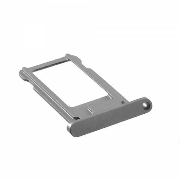 OEM iPad 7 (2019) Sim Tray - резервна поставка за сим картата на iPad 7 (2019) (тъмносив)