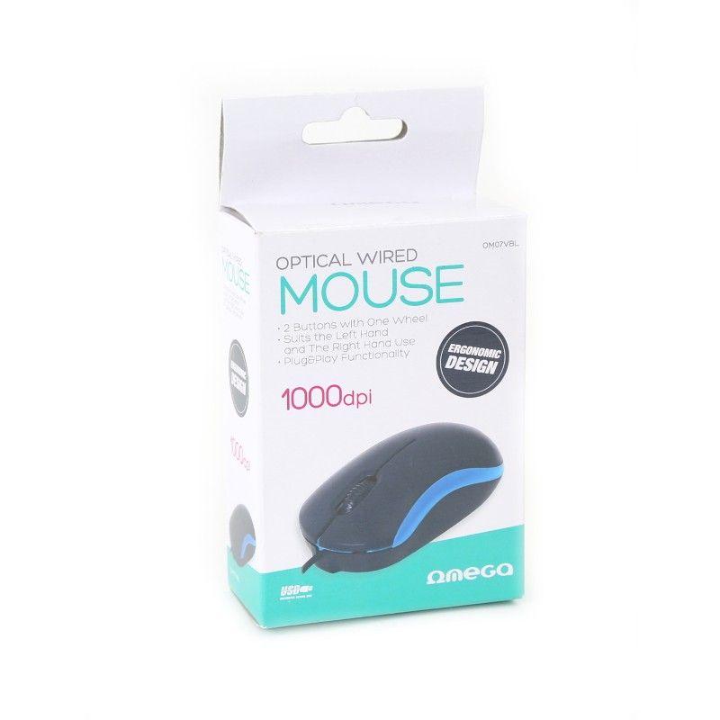 Omega OM-07 3D Optical 1000 DPI USB Mouse