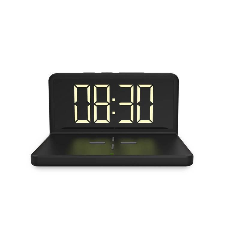 Platinet Alarm Clock with Qi Wireless Charger