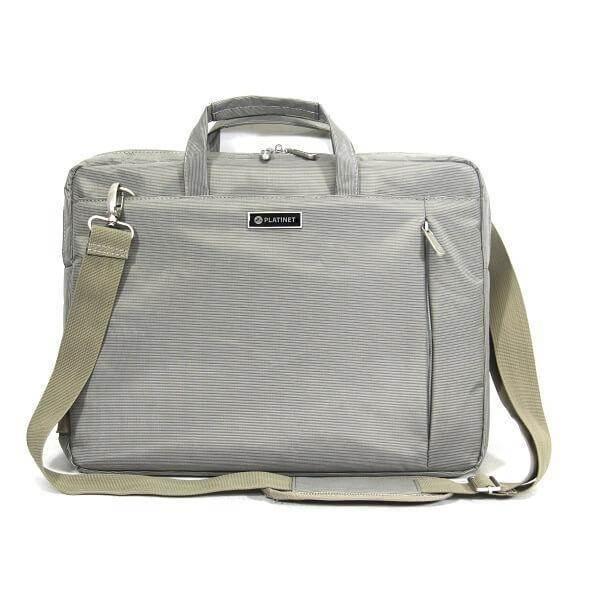 Platinet Notebook Bag 15.6 York Collection - чанта с презрамка за преносими компютри до 16 инча (сив)