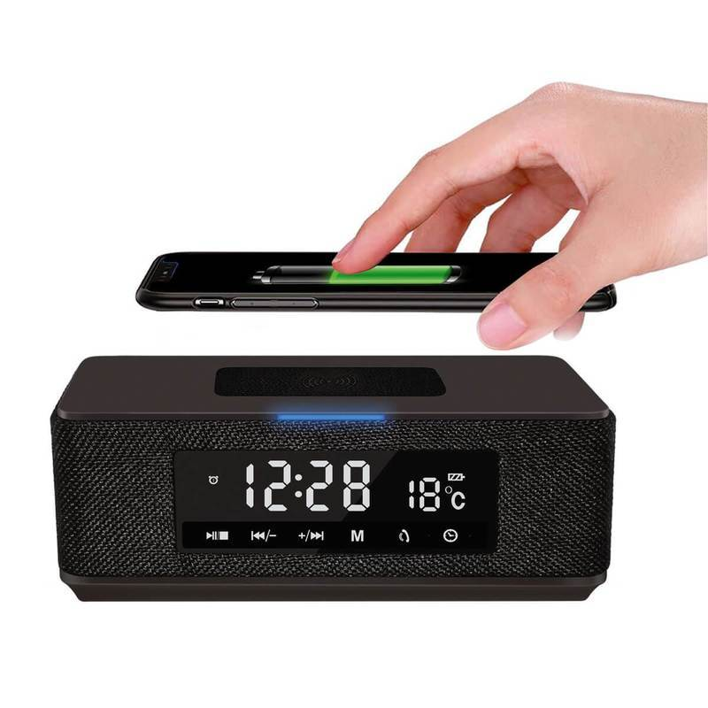 Platinet Speaker Daily PMGQ15B Bluetooth, QI, FM And Clock