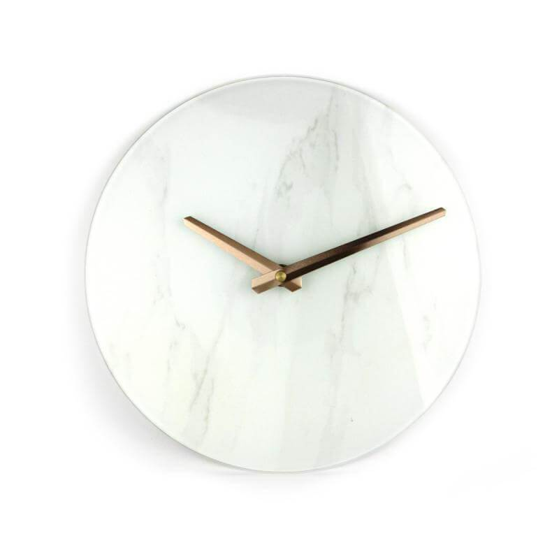 Platinet Wall Clock Marble Glass