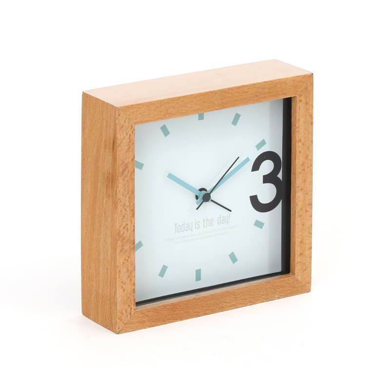 Platinet Zegar Alarm Clock Wooden April - часовник с будилник (кафяв)