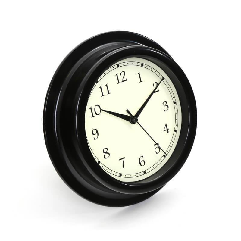 Platinet Zegar Wall Clock August - стенен часовник (черен)