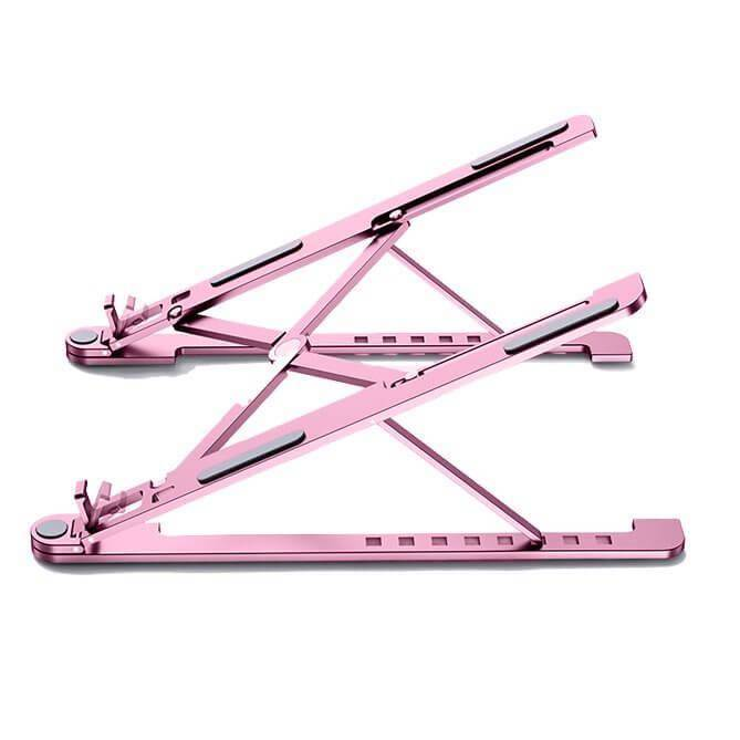 Portable Folding Aluminum Laptop Stand L - преносима сгъваема поставка за MacBook и лаптопи от 14 до 17.3 инча (розов)