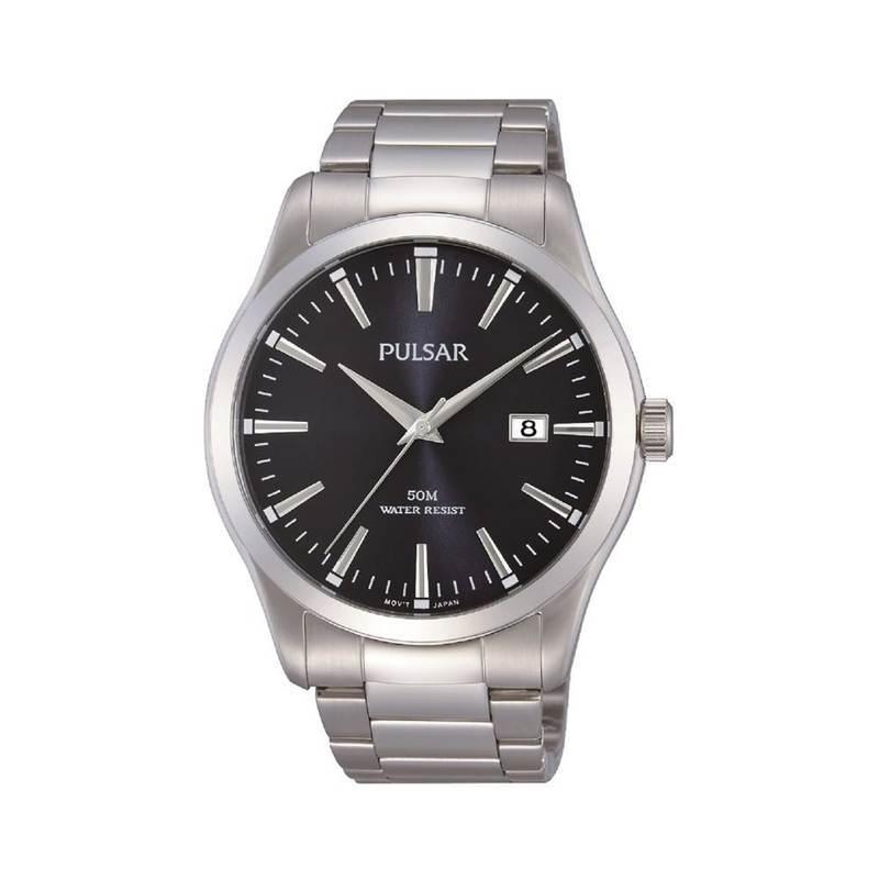 Pulsar PS9297X1 Stainless Steel Bracelet Watch - елегантен мъжки часовник (сребрист)