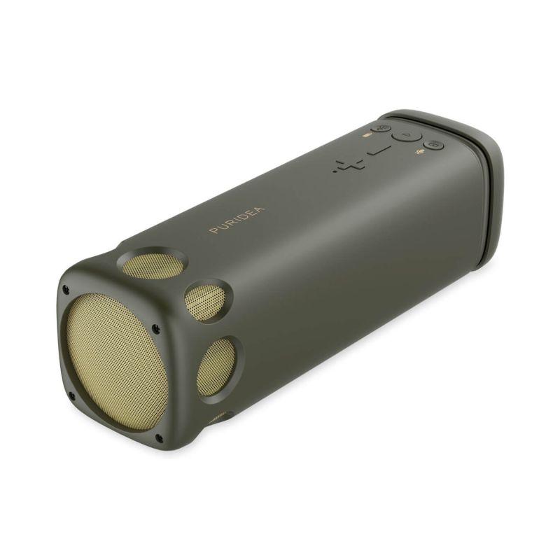 Puridea BT Speaker with Power Bank 4000 mAh and LED - безжичен спийкър с вградена батерия, поставка за колело и LED светлина