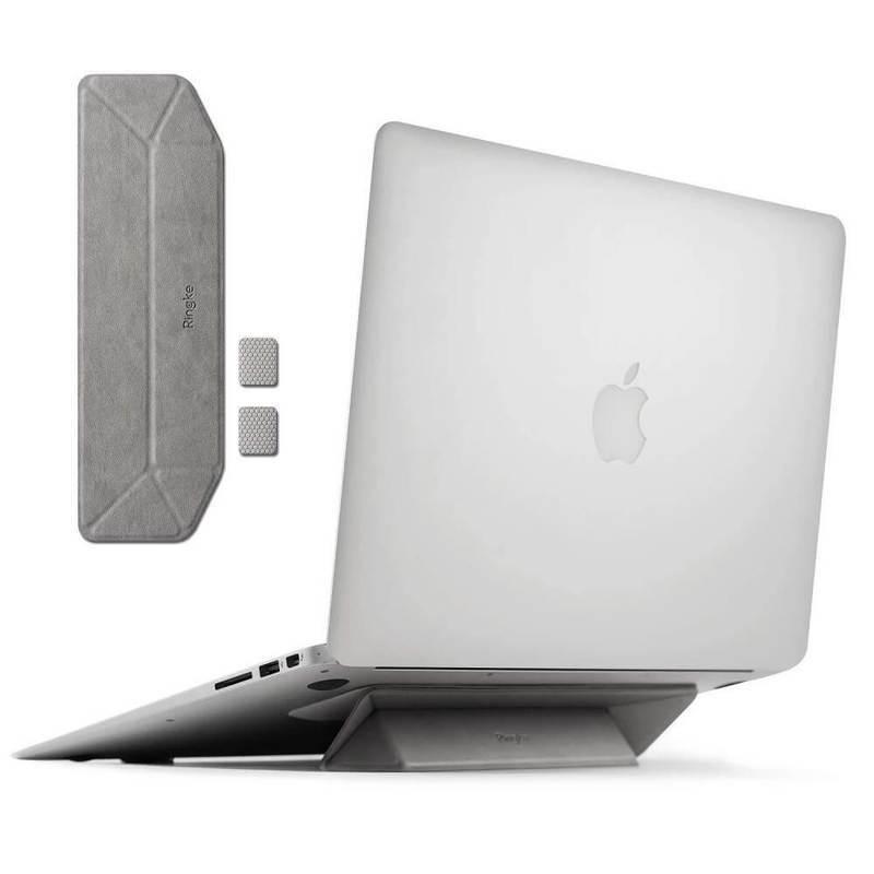Ringke Universal Laptop Stand - сгъавема, залепяща се към вашия компютър поставка за MacBook и лаптопи (сив)