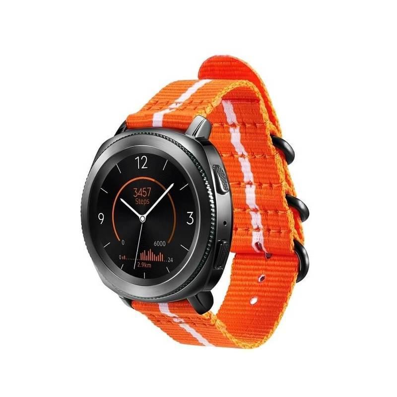 Samsung GP-R600BREECAG Premium Nato - оригинална каишка за Samsung Gear Sport и Watch Active (20мм) (оранжев)