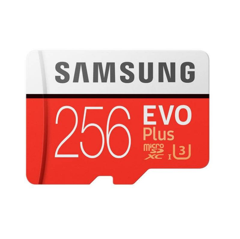 Samsung MicroSDXC 256GB EVO Plus UHS-I Memory Card U3, Class 10, 4K Ultra HD