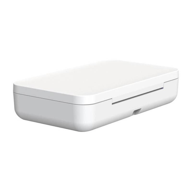 Samsung UV Steriliser - поставка за безжично зареждане и UV стерилизатор за мобилни устройства (бял)