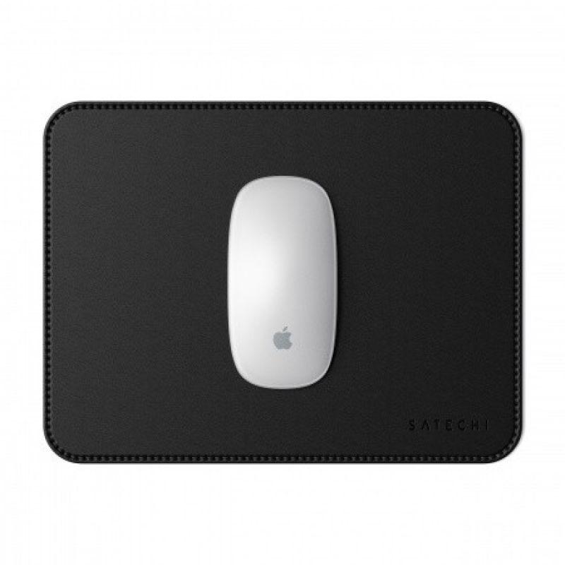 Satechi Eco-Leather Mouse Pad - дизайнерски кожен пад за мишка (черен)