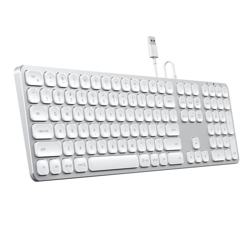 Satechi Wired Aluminum Keyboard with Numeric Keypad