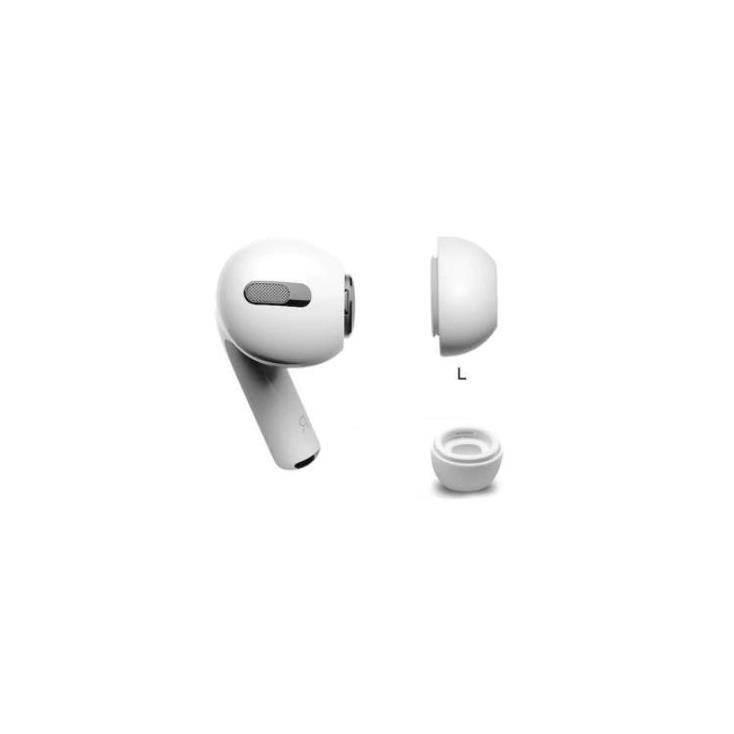 Soft Silicone Earplug - 4 броя силиконови тапи за Apple Airpods Pro (размер L) (бял)
