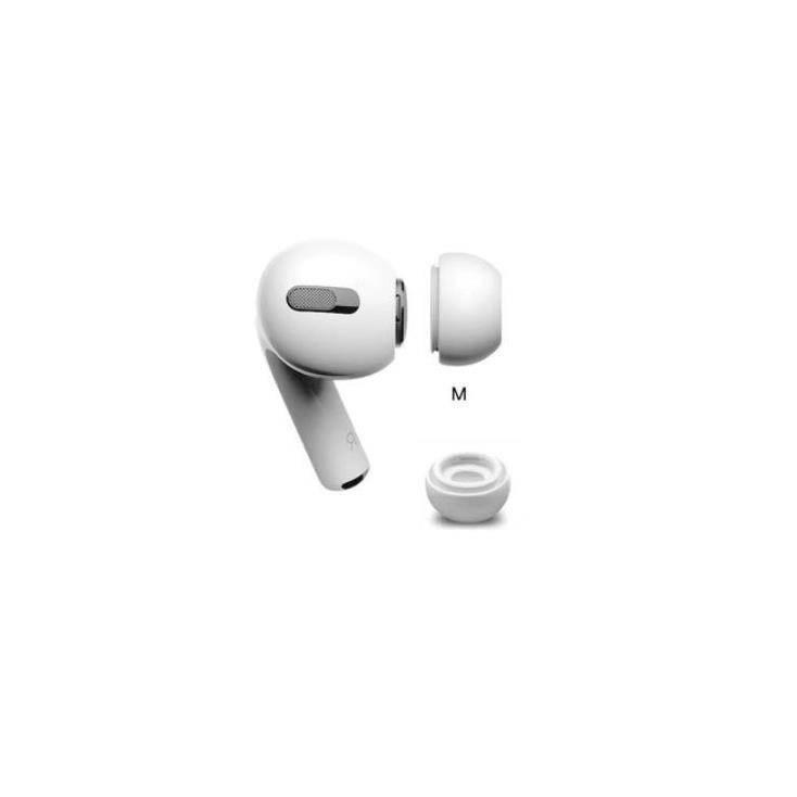 Soft Silicone Earplug - 4 броя силиконови тапи за Apple Airpods Pro (размер M) (бял)