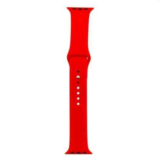 Tactical 464 Silicone Sport Band - силиконова каишка за Apple Watch 38мм, 40мм (червен)