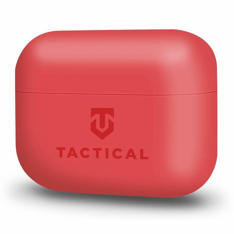 Tactical TPU Velvet Smoothie Case - термополиуретанов (TPU) удароустойчив калъф за Apple AirPods Pro (червен)