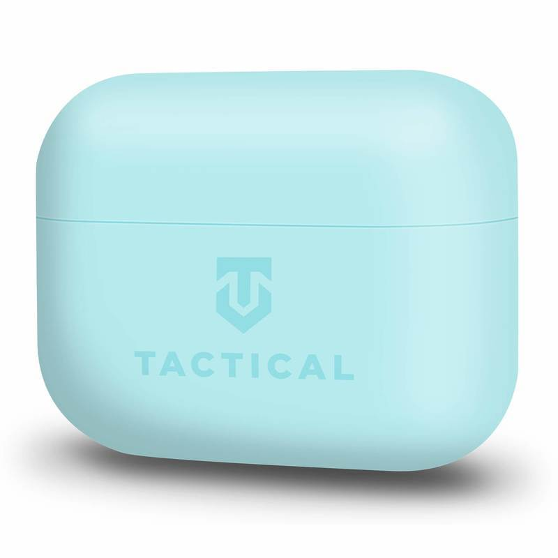 Tactical TPU Velvet Smoothie Case - термополиуретанов (TPU) удароустойчив калъф за Apple AirPods Pro (светлосин)