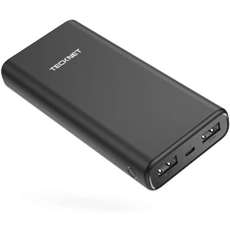 TeckNet EBT01192BA01 Power Bank 20000mAh - външна батерия 20000mAh с 2xUSB изхода за смартфони и таблети (черен)
