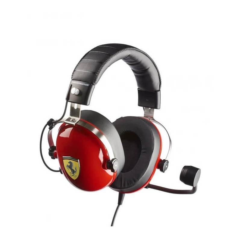 Thrustmaster T.Racing Scuderia Ferrari Edition Gaming headset - геймърски слушалки с микрофон и управление на звука (червен)