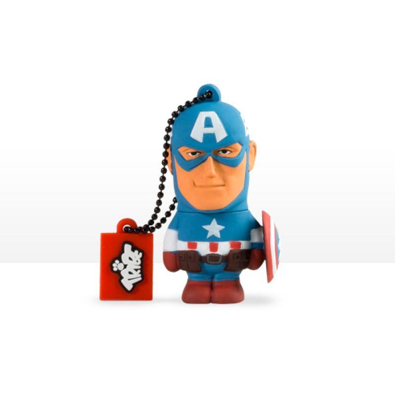 USB Tribe Marvel Captain America High Speed USB 2.0 Flash Drive 8GB