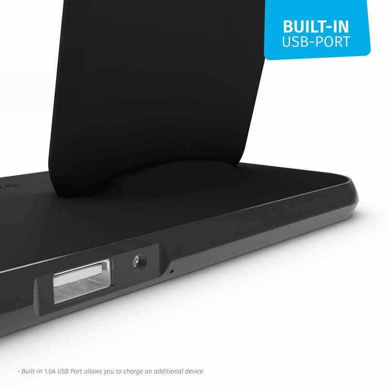 Zens Aluminium Stand + Dock 10W Qi ZEDC06B00